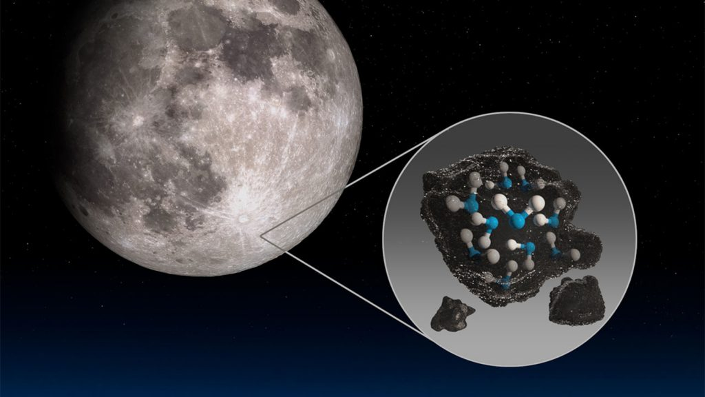 Water found on moon's surface