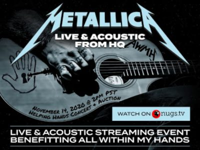 Metallica playing for charity