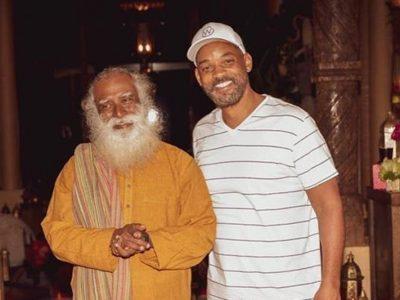 Spiritual leader Sadhguru meets Will Smith