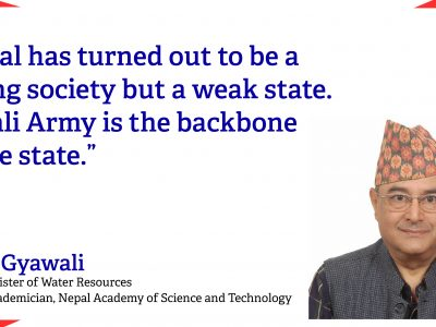 'Nepal has turned out to be a strong society but a weak state. Nepali Army is the backbone of the state': Dipak Gyawali