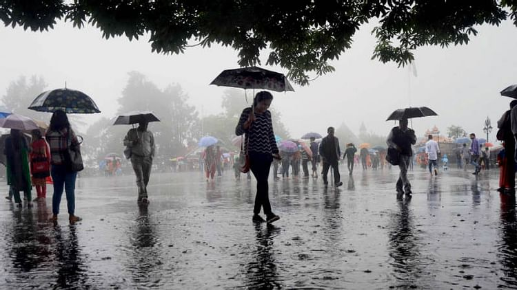 Influence of westerly wind : Rainfall forecasted till Wednesday