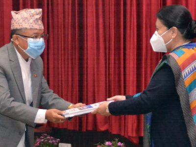 Election Commission submits annual report to President