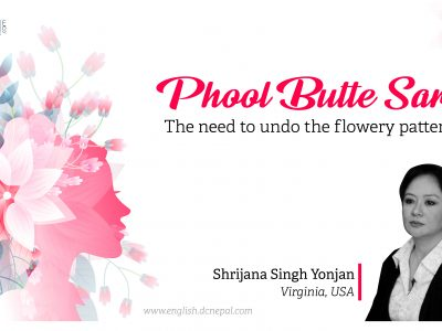 Phool Butte sari – The need to undo the flowery pattern