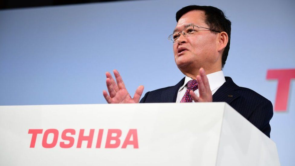 Toshiba president resigns amid acquisition talks