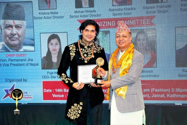 "Ashwini wins ""Best Choreographer"" at Nepal Music and Fashion Award 2021"