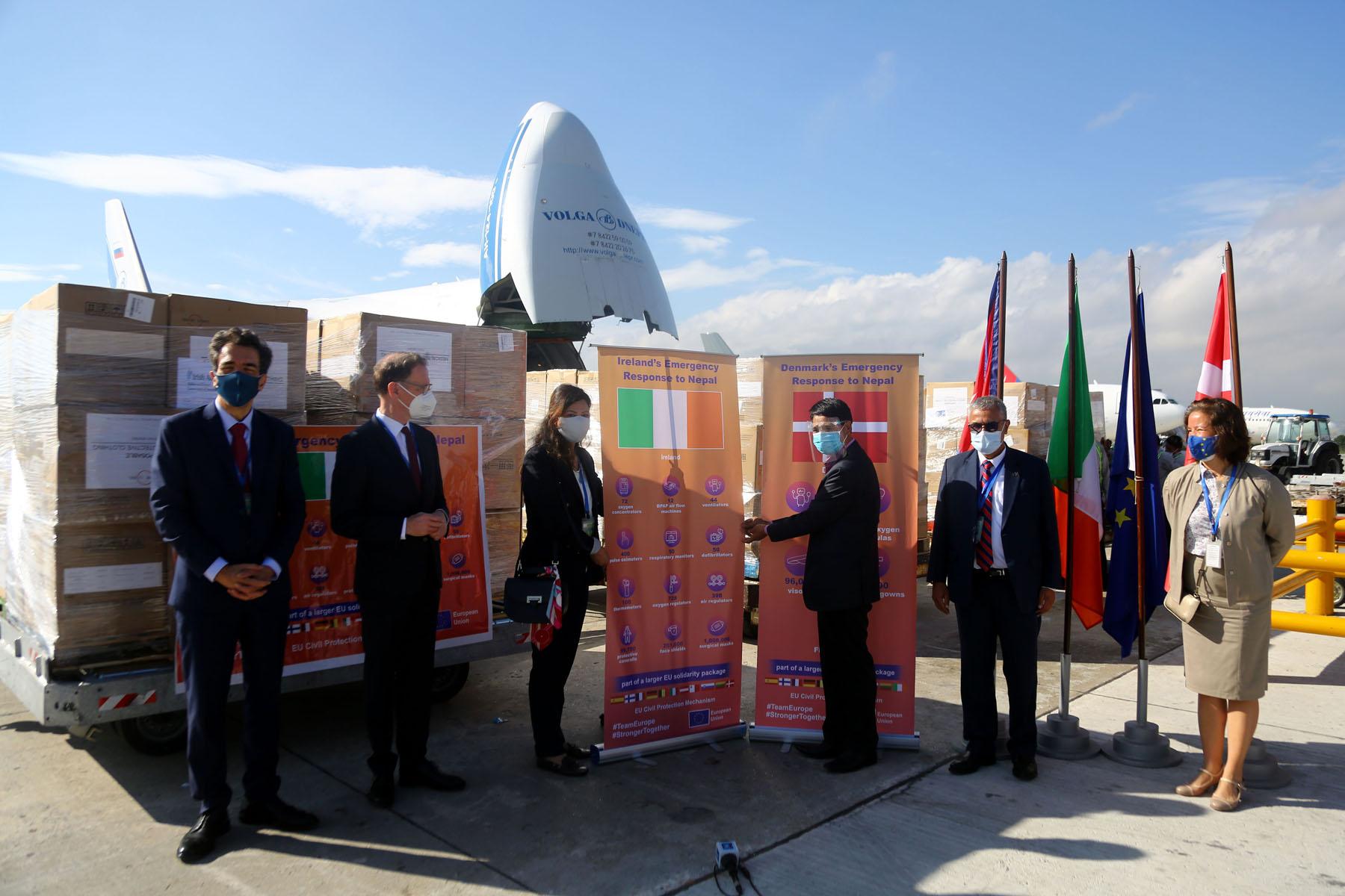 Nepal receives health supplies from Ireland, Denmark