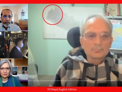 Baburam Bhattarai uses old map of Nepal in an interview with Indian media