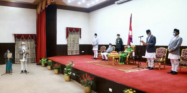 Newly appointed ministers take oath of office and secrecy