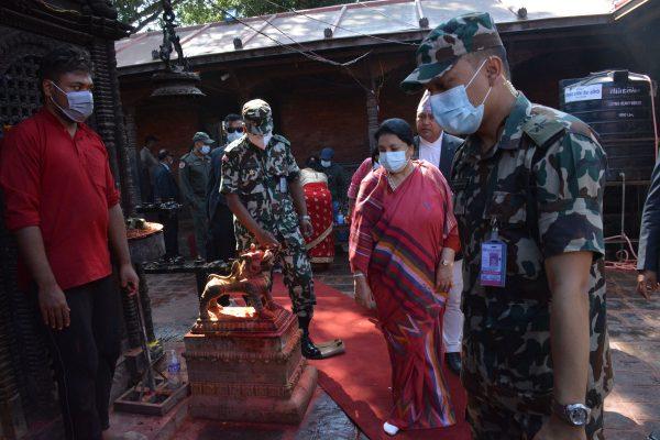 President pays homage to Palanchowk Bhagawati on Ashtami